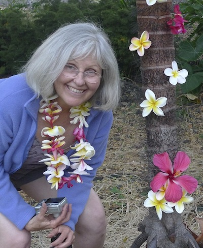 Dr. Dorothy Mandel and Flowers