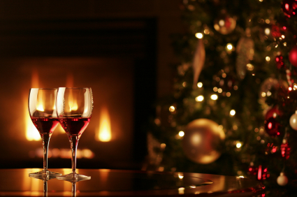 candles and wine